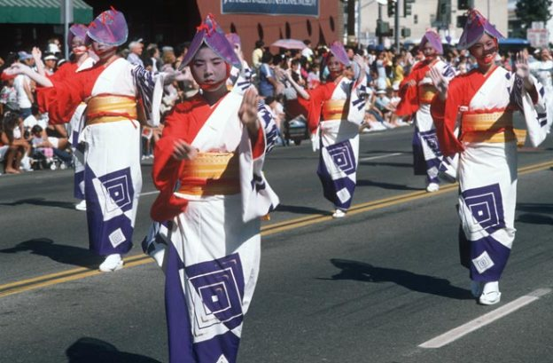 The 49th Nisei Week Parade in Little Tokyo, Los Angeles, CA