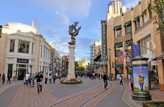 Image of the famous Mall The Grove at Los Angeles, California