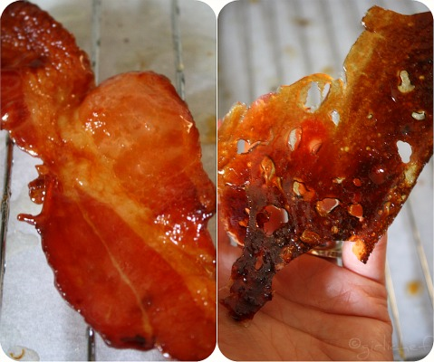 candied bacon and bacony caramel shard
