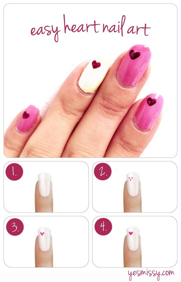 Easy-Heart-Nail-Art-Tutorial