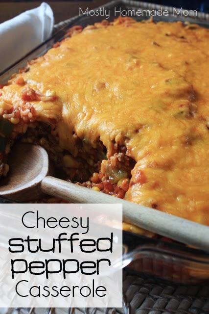 Cheesy Stuffed Pepper Casserole 1