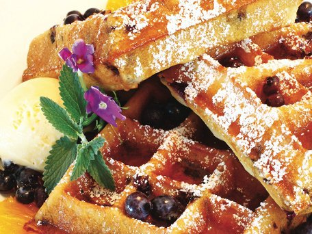 1maple-blueberry-malted-belgian-waffles-with-maple-syrup-and-fresh-whipped-cream_456X342