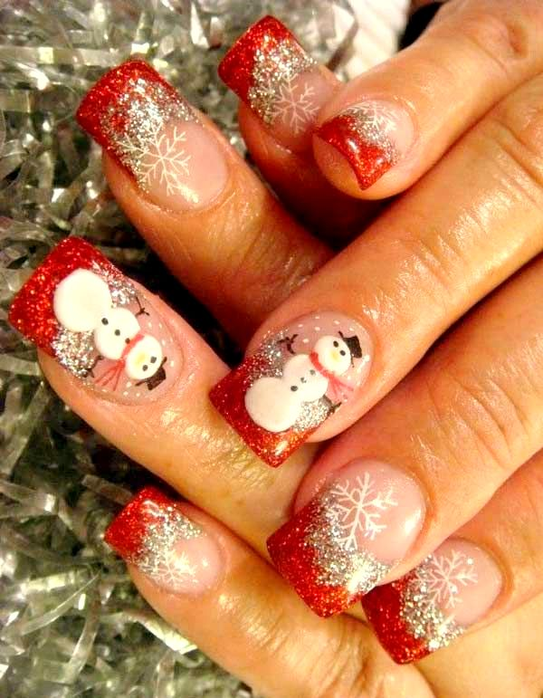 Christmas-nail-art-design-ideas-snowman
