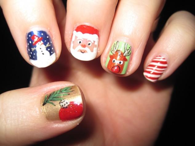 25 Cute As Christmas Nail Art Designs Make Something Mondays