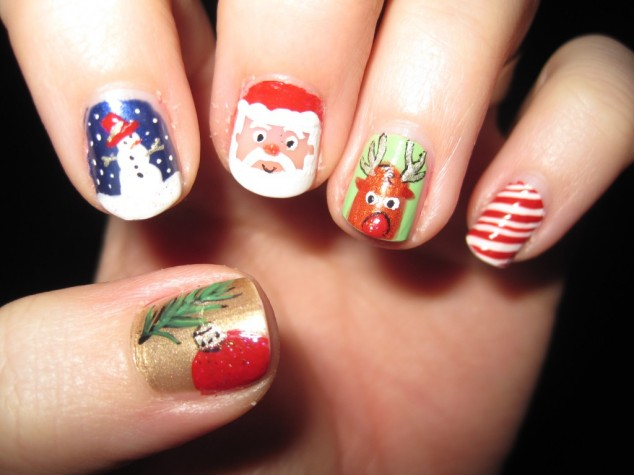 Cute-Christmas-Nail-Designs-1024x768-634x475