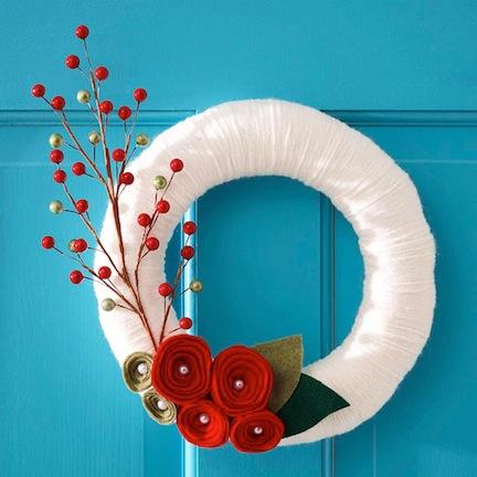 25 Diy Christmas Wreaths Holiday Home Decor My Own Little Playground