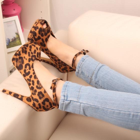 Wholesale-women-shoes-leopard-ankle-strap-pumps-suede-platform-high-heel-free-shipping
